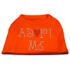 Mirage Pet Products Adopt Me Rhinestone Shirt Orange Lg (14)
