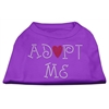 Mirage Pet Products Adopt Me Rhinestone Shirt Purple S (10)