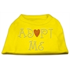 Mirage Pet Products Adopt Me Rhinestone Shirt Yellow Lg (14)