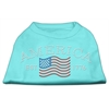 Mirage Pet Products Classic American Rhinestone Shirts Aqua M (12)