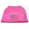 Mirage Pet Products Classic American Rhinestone Shirts Bright Pink L (14)