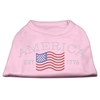 Mirage Pet Products Classic American Rhinestone Shirts Light Pink XS (8)