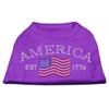 Mirage Pet Products Classic American Rhinestone Shirts Purple XS (8)