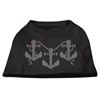 Mirage Pet Products Rhinestone Anchors Shirts Black XS (8)