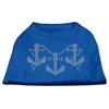 Mirage Pet Products Rhinestone Anchors Shirts Blue Med (12)