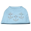 Mirage Pet Products Rhinestone Anchors Shirts Baby Blue XXXL(20)