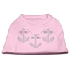 Mirage Pet Products Rhinestone Anchors Shirts Light Pink XXL (18)