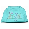 Mirage Pet Products Technicolor Angel Rhinestone Pet Shirt Aqua XL (16)