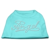 Mirage Pet Products Angel Rhinestud Shirt Aqua XXXL(20)