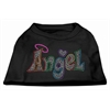 Mirage Pet Products Technicolor Angel Rhinestone Pet Shirt Black XXL (18)