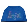 Mirage Pet Products Technicolor Angel Rhinestone Pet Shirt Blue XXXL (20)