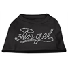 Mirage Pet Products Angel Rhinestud Shirt Black XXXL(20)