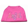 Mirage Pet Products Technicolor Angel Rhinestone Pet Shirt Bright Pink Med (12)