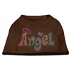 Mirage Pet Products Technicolor Angel Rhinestone Pet Shirt Brown XS (8)