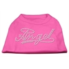 Mirage Pet Products Angel Rhinestud Shirt Bright Pink XXXL(20)