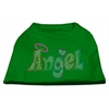 Mirage Pet Products Technicolor Angel Rhinestone Pet Shirt Emerald Green XXL (18)