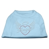 Mirage Pet Products Angel Heart Rhinestone Dog Shirt Baby Blue XXL (18)