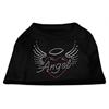 Mirage Pet Products Angel Heart Rhinestone Dog Shirt Black XL (16)