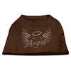 Mirage Pet Products Angel Heart Rhinestone Dog Shirt Brown Lg (14)