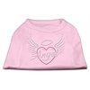 Mirage Pet Products Angel Heart Rhinestone Dog Shirt Light Pink XXXL (20)