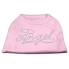 Mirage Pet Products Angel Rhinestud Shirt Light Pink XXXL(20)