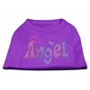 Mirage Pet Products Technicolor Angel Rhinestone Pet Shirt Purple XL (16)