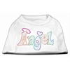 Mirage Pet Products Technicolor Angel Rhinestone Pet Shirt White XL (16)