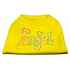 Mirage Pet Products Technicolor Angel Rhinestone Pet Shirt Yellow XXXL (20)