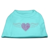 Mirage Pet Products Aviator Rhinestone Shirt Aqua XXXL(20)
