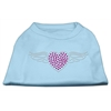Mirage Pet Products Aviator Rhinestone Shirt Baby Blue XXXL(20)