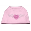 Mirage Pet Products Aviator Rhinestone Shirt Light Pink XXXL(20)