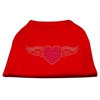 Mirage Pet Products Aviator Rhinestone Shirt Red XXXL(20)