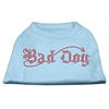 Mirage Pet Products Bad Dog Rhinestone Shirts Baby Blue XXXL(20)