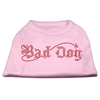 Mirage Pet Products Bad Dog Rhinestone Shirts Light Pink XXL (18)
