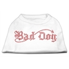 Mirage Pet Products Bad Dog Rhinestone Shirts White XXXL(20)