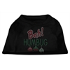 Mirage Pet Products Bah Humbug Rhinestone Dog Shirt Black  XS (8)
