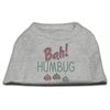 Mirage Pet Products Bah Humbug Rhinestone Dog Shirt Grey XS (8)