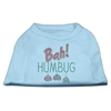 Mirage Pet Products Bah Humbug Rhinestone Dog Shirt Baby Blue Med (12)