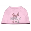 Mirage Pet Products Bah Humbug Rhinestone Dog Shirt Light Pink XXL (18)