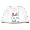 Mirage Pet Products Bah Humbug Rhinestone Dog Shirt White XL (16)