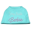 Mirage Pet Products Step Aside Barbie Shirts Aqua XXXL(20)