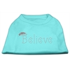 Mirage Pet Products Believe Rhinestone Shirts Aqua XXXL(20)
