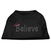 Mirage Pet Products Believe Rhinestone Shirts Black XXXL(20)