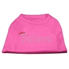 Mirage Pet Products Believe Rhinestone Shirts Bright Pink XXXL(20)