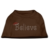 Mirage Pet Products Believe Rhinestone Shirts Brown Med (12)