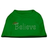 Mirage Pet Products Believe Rhinestone Shirts Emerald Green Med (12)