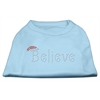 Mirage Pet Products Believe Rhinestone Shirts Baby Blue XXXL(20)