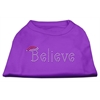Mirage Pet Products Believe Rhinestone Shirts Purple XXXL(20)