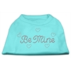 Mirage Pet Products Be Mine Rhinestone Shirts Aqua XXXL(20)