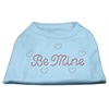 Mirage Pet Products Be Mine Rhinestone Shirts Baby Blue XXXL(20)